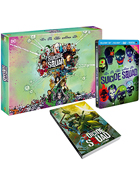 Suicide Squad: Extended Cut: Limited Edition (Blu-ray 3D-FR/Blu-ray-FR/DVD:PAL-FR)(w/Graphic Novel)(SteelBook)