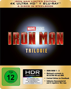 Iron Man Trilogy (4K Ultra HD-GR/Blu-ray-GR)(SteelBook): Iron Man / Iron Man 2 / Iron Man 3