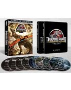 Jurassic Park 25th Anniversary Collection: Limited Edition (4K Ultra HD/Blu-ray)(SteelBook): Jurassic Park / The Lost World: Jurassic Park / Jurassic Park III / Jurassic World