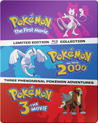 Pokemon The Movies 1-3 Collection (Blu-ray)(SteelBook): The First Movie / 2000 / Spell Of The Unown