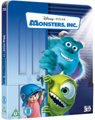 Monsters, Inc.: Lenticular Limited Edition (Blu-ray 3D-UK/Blu-ray-UK)(SteelBook)