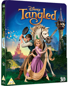 Tangled: Lenticular Limited Edition (2010)(Blu-ray 3D-UK/Blu-ray-UK)(SteelBook)