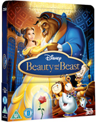 Beauty And The Beast: Lenticular Limited Edition (2010)(Blu-ray 3D-UK/Blu-ray-UK)(SteelBook)