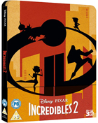 Incredibles 2: Limited Edition (Blu-ray 3D-UK/Blu-ray-UK)(SteelBook)