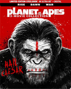 Planet Of The Apes 3-Movie Collection: Limited Edition (4K Ultra HD/Blu-ray)(SteelBook): Rise Of The Planet Of The Apes / Dawn Of The Planet Of The Apes / War For The Planet Of The Apes