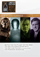 Classic Quad Set 18: Battle For The Planet Of The Apes / The Day The Earth Stood Still / The Neptune Factor / The Poseidon Adventure