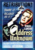 Address Unknown: Sony Screen Classics By Request